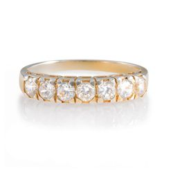 Gold Plated Silver Cubic Zirconia Eternity Ring, K