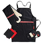 Go Cook 4 Piece Apron, Oven Glove & Kitchen Textile Set