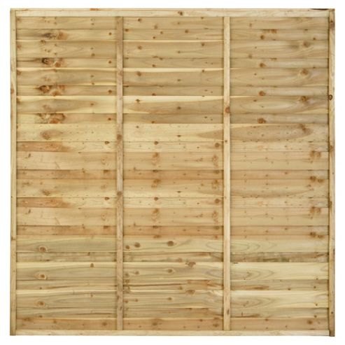 Timberdale 6x6 Sutton 4 Panel Pack with Posts and Fixing Brackets