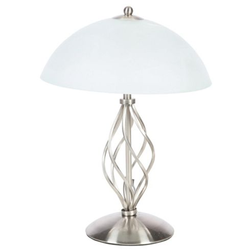 Signa Twisted satin Nickel Table Lamp