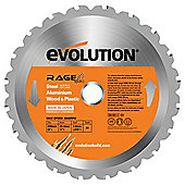 Evolution RAGE 230mm Multipurpose TCT Blade (Orange)