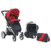 Petite Star Kurvi Match Red Travel System & Free Ali Handle Car Seat