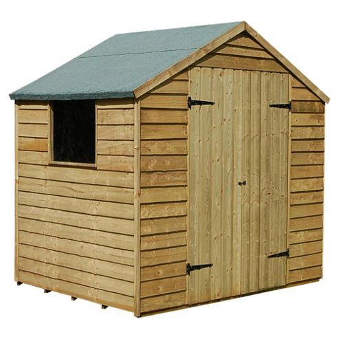 7x5 Timberdale Overlap Double Door Pressure Treated Shed