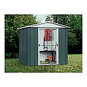 Yardmaster 6'1x4'1 Apex Metal Shed with floor support frame