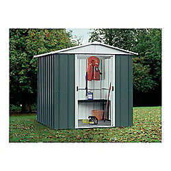 Yardmaster Apex Metal Shed with floor support frame, 6x4ft