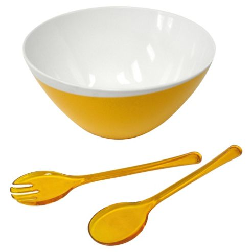 Omada Zen Large Bowl and Servers, Orange