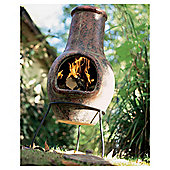La Hacienda Plain Clay Chimenea Burnt Red