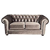 Chesterfield Velvet Small Sofa, Mink