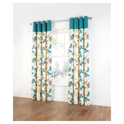 Tesco Bold Leaf Print Unlined eyelet Curtains W167xL229cm (66x90
