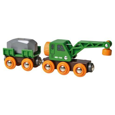 Brio Classic Accessory Wooden Toy Clever Crane Wagon