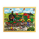 Bigjigs Toys BJ741 Tray Puzzle Train