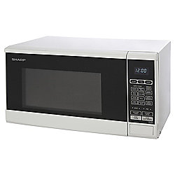Sharp R270WM Solo Microwave, 20L - White