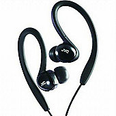 JVC HA-EBX5 Splash Proof Sports In-Ear Headphones - Black