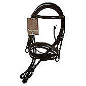 Cottage Craft Oxford Bridle with Reins Havana Full