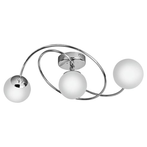 Tesco Lighting Orbital Bathroom Flush 3 light