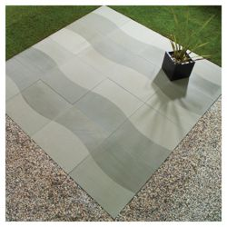 Natural Stone The Wave Patio Kit 2.4x2.4m