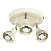 Tesco Lighting Eden 3 Spot Plate Cream