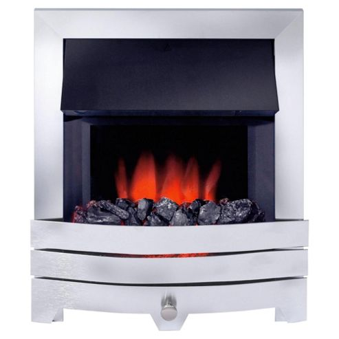 Royal Cozyfire electric fire - Contemporary Brushed Steel