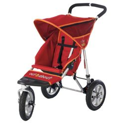 Out 'n' About Nipper Single 360, 3 wheeler Pushchair Limited Edition, Raspberry