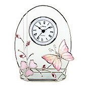 Juliana Home Living Juliana Butterfly/Oval Crystal Series Arched Top Clock