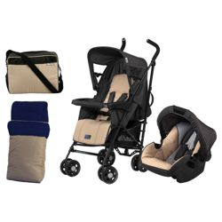 Hauck Turbo Plus Travel System & Accessories, Sand