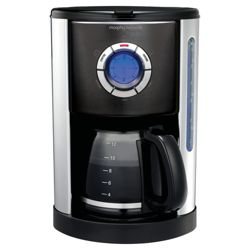 Morphy Richards 47095 1.2 Accesnts Coffee Machine - Transparent Black