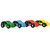 Bigjigs Rail BJT152 Cars (Pack of 4)