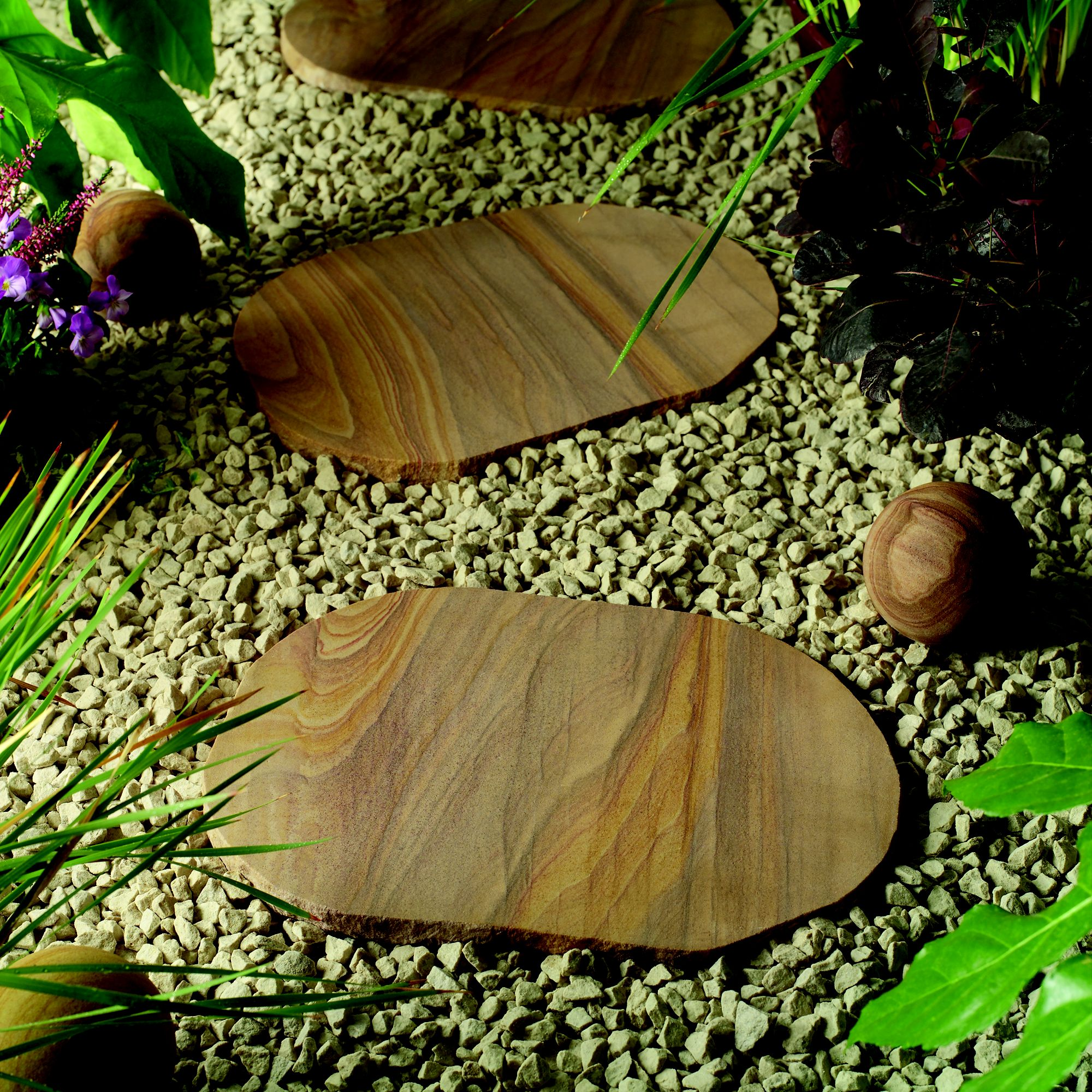 Natural Stone Indian Sunset Stepping Stones at Tesco Direct
