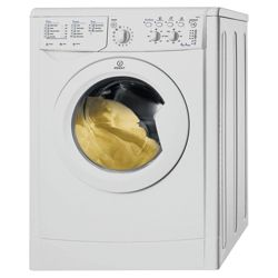 Indesit IWC6105 Washing Machine, 6kg Wash Load, 1000 RPM Spin, A  Energy Rating. White