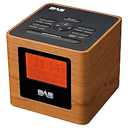 buy tesco wood effect dab clock radio from our portable radio range. Black Bedroom Furniture Sets. Home Design Ideas