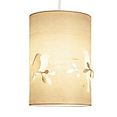 Modern Ceiling Pendant Light Shade with Bird Cut Out in Wood Veneer