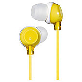 JVC HAFX22Y Clear Colour Stereo Headphones - Yellow