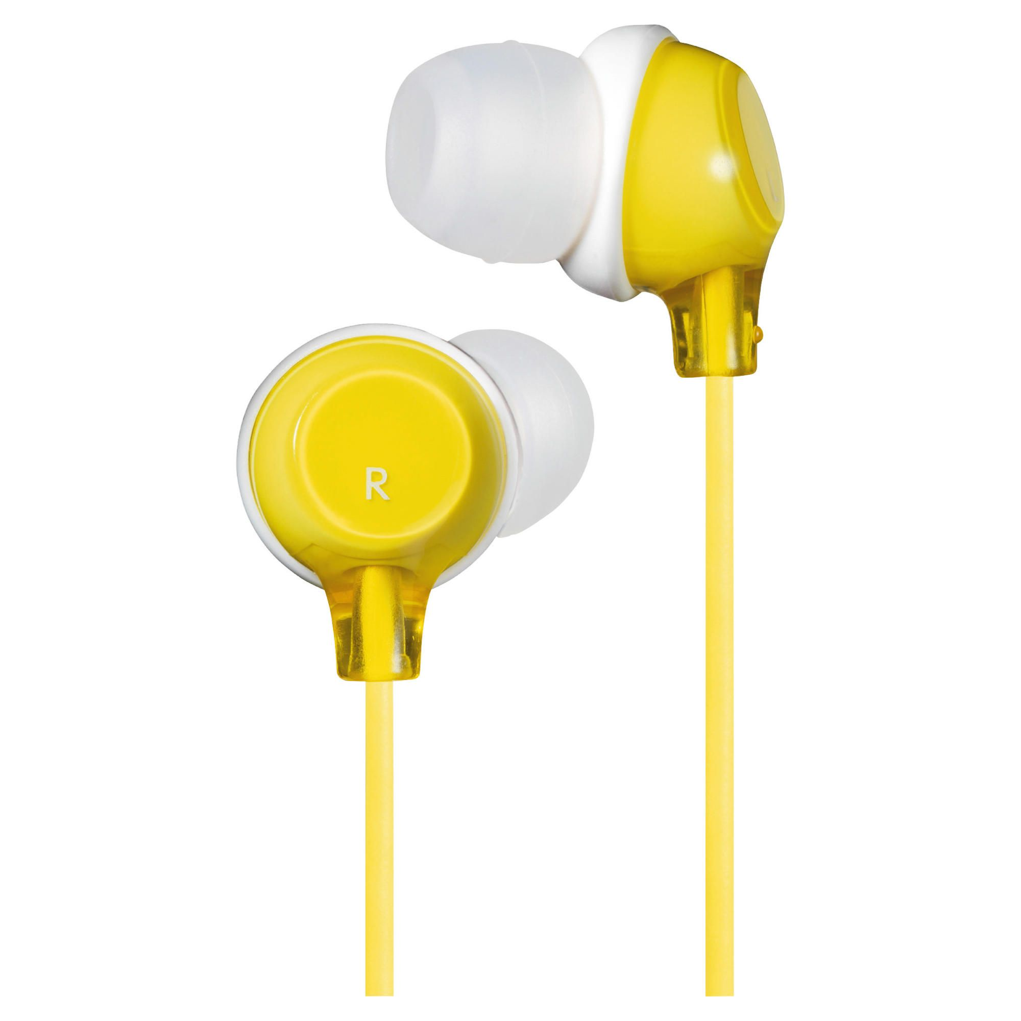JVC Clear Colour Stereo Headphones Yellow HAFX22Y
