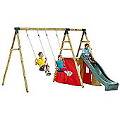 Plum Chacma Wooden Garden Swing Set