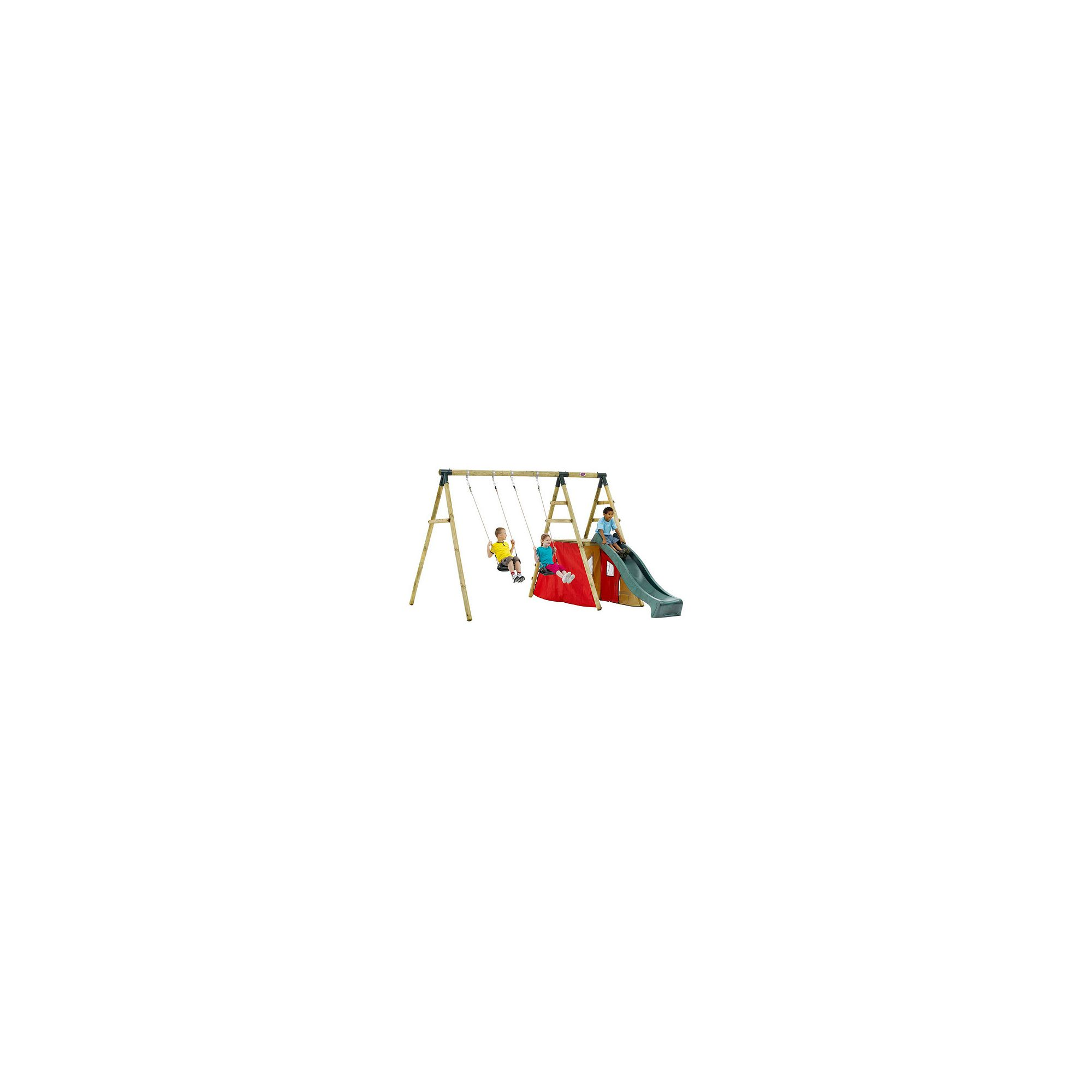 Plum Chacma Wooden Garden Swing Set at Tesco Direct