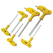 Am-Tech 6 Piece T Handle Hex Wrench Set L0755
