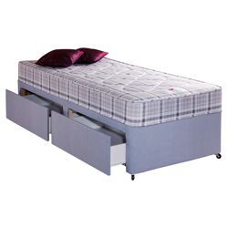 Airsprung Melbourne Sprung Single 2 Drawer Divan Bed