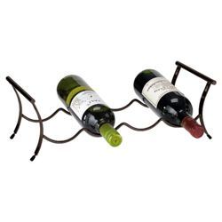 Ready To Assemble 4 Bottle Winestak, Black