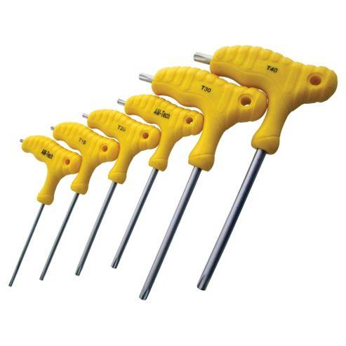 Am-Tech 6 Piece T Handle Torx Wrench Set L0750