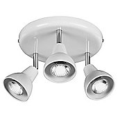 Tesco Lighting Eden 3 Spot Plate White