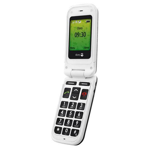 buy tesco mobile doro phone easy 409s black white from. Black Bedroom Furniture Sets. Home Design Ideas