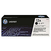 HP 12A Laserjet Toner Cartridge - Black (Q2612A)