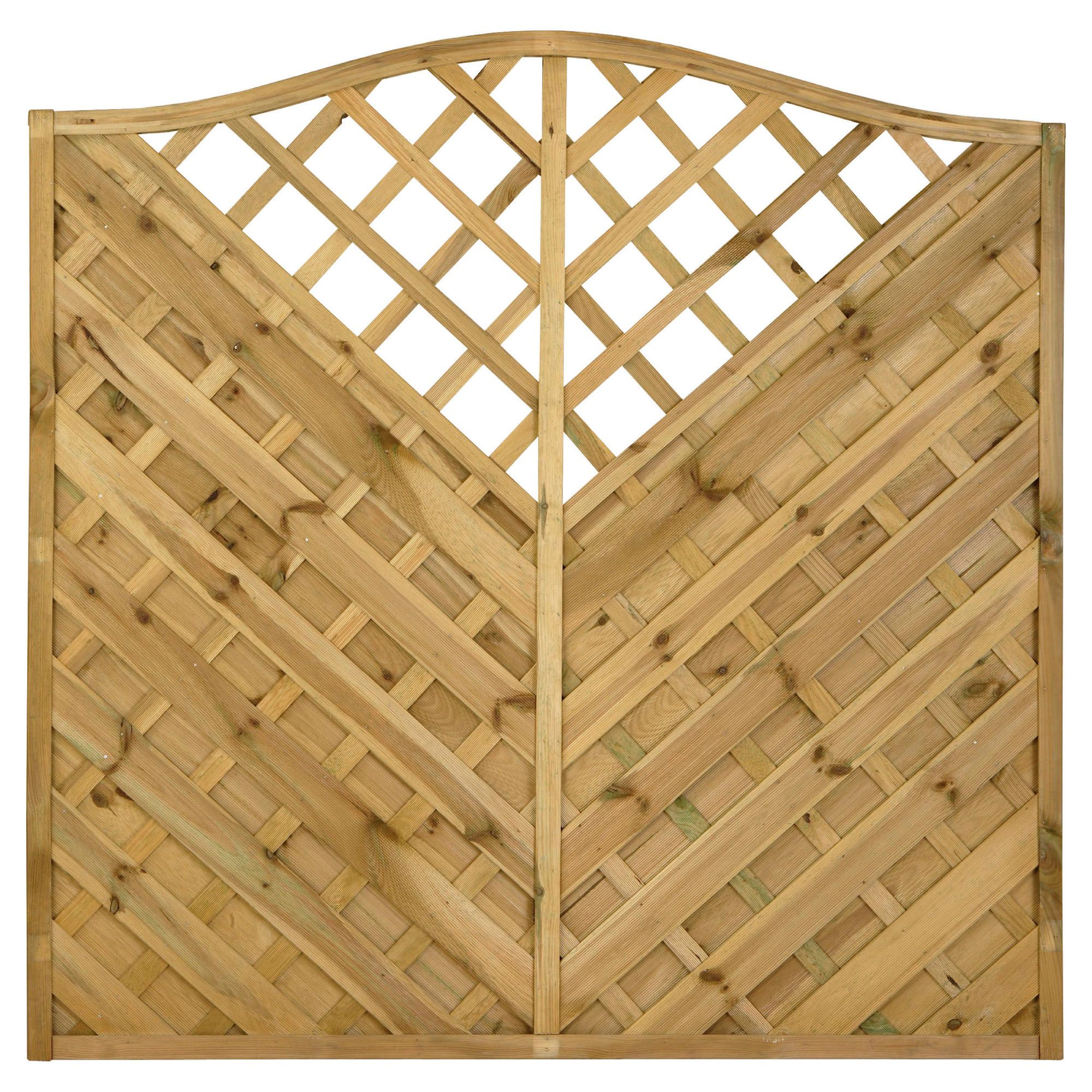 Timberdale 1.8mx1.8m Verona 3 Screen Pack with Posts and Fixing Brackets at Tesco Direct
