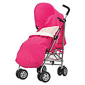 Obaby Atlas Pushchair & Footmuff, Pink Scribble