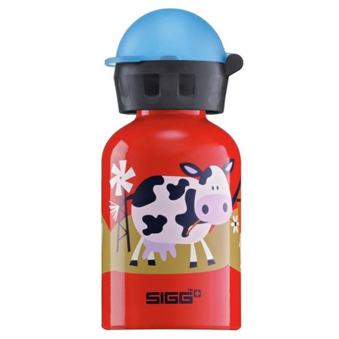 SIGG Kids Barnyard Fun Children's Aluminium Drinking Water Bottle, 0.3L