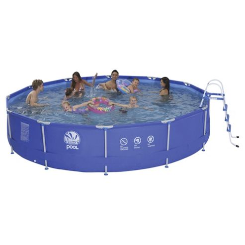 Tesco 15ft Metal Frame Pool with Filter Pump & Ladder
