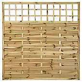 Timberdale 1.8mx1.8m Square Pembroke 3 Screen Pack with Posts and Fixing Brackets