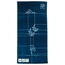Olympics Dark Blue Swimming Towel  100% Velour