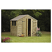 7x7 Timberdale Overlap Double Door Pressure Treated Shed