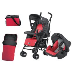 Hauck Turbo Plus Travel System, Red